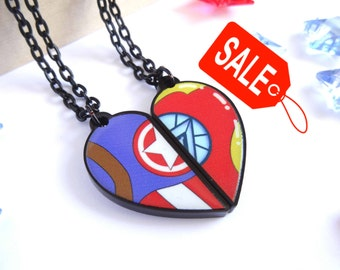 SALE!- Captain America and Ironman America BFF- Necklace Set