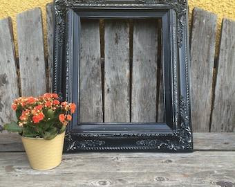Black 8x10 Picture Frame, Baroque, Wedding Frame,Wide Chunky Frame,Ornate Wedding Frame, Nursery, Photo Prop #SC(Los Angeles)