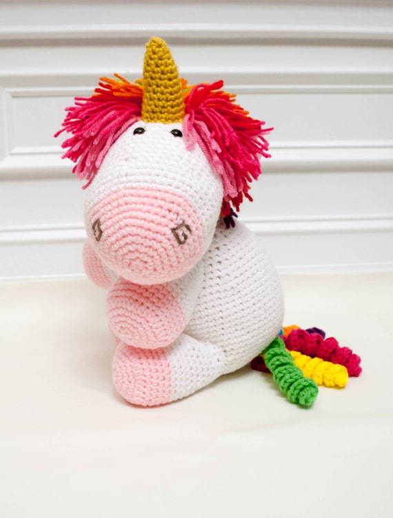 Crochet Unicorn Doll : ... Kids Birthday Gift - Crochet Stuffie - Unicorn Doll - Unicorn Gift
