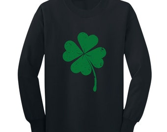 Faded Shamrock - St. Patrick's Day - Long Sleeve Toddler T-Shirt