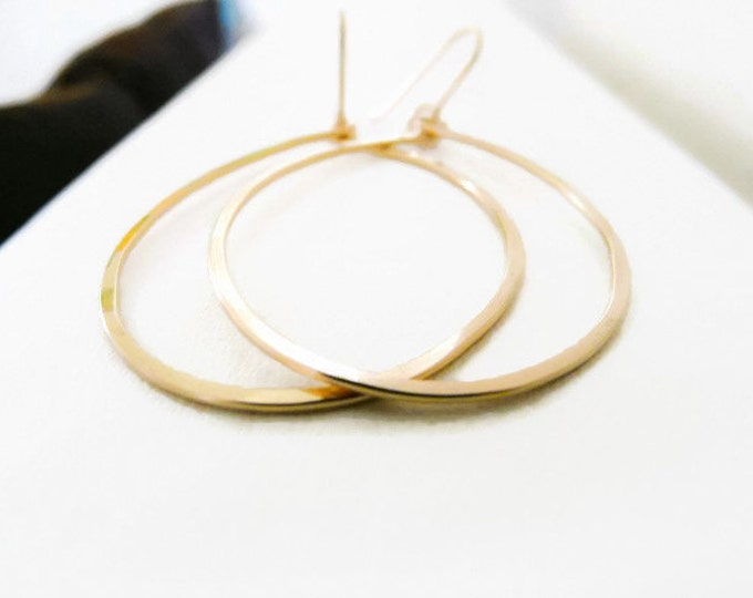 Gold Filled Thick Hoops Women Earrings Hammered Hoops Women Earrings Oval Hoops Jewelry For Her