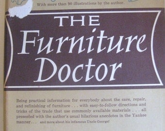 The Furniture Doctor by George Grotz - 1962 Hardcover book -More Than 90 Illustrations