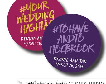 Wedding hashtag sticker, wedding hashtag label, wedding hastag, instagram hashtag wedding hashtag ideas instagram wedding ideas social media