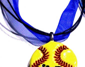 10 Blue Ribbon Necklaces - Add on to Order