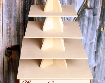 Cupcake Stand 5 Tier Cupcakes MDF Wood DIY Project Unpainted Cupcake Tower Wedding Stand Birthday Stand Display Stand