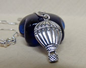 Sterling Silver Hot Air Balloon Necklace