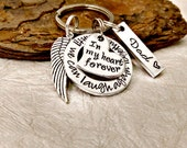 In my Heart forever Keychain - Memorial Keychain - Loss of loved one - Memorial Gift - Loss of Mother - Loss of Father - Sympathy Gift