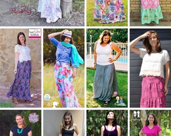 PATTERN Ladies Tiered Maxi Skirt - PDF Sewing Pattern - Instant Download - Pattern Emporium