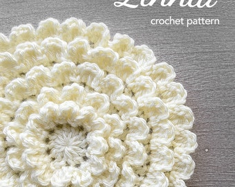 Crochet Flower Pattern PDF (The Neverending Zinnia Crochet Pattern by Little Monkeys Crochet) flower crochet pattern zinnia crochet instant