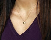 Gold Disc Necklace, Disc Necklace, Simple Gold Necklace