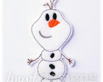 Snowman Felt Paper Doll Toy Companion Digital Design File - 5x7