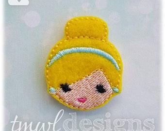"Emoji Princess Cinderella Feltie Digital Design File - 1.75"""