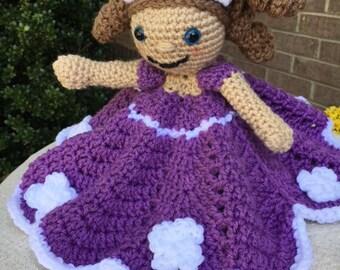Sofía la primera inspiración Lovey ~ Disney Sofía el primer seguridad manta ~ Sofía muñeca ~ niño niña regalo ~ Baby Doll