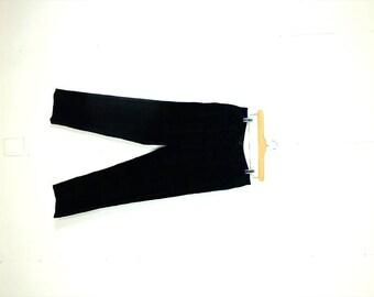 Ralph Lauren Dark Green x Navy Tartan Plaid Velour Pants from 90's/W30*