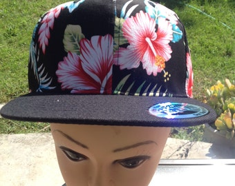 Floral Snap Back Hat..Hawaiian Hat..One Size Fits All.