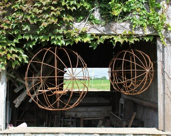 """Wrought Iron Large 24"""" Eclipse Sphere Candle Chandelier Lighting Use Indoor or Outdoor"""