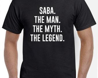 Saba Shirt-Saba Gift-The Man The Myth The Legend Funny Saba T Shirt