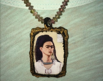 Frida Kahlo Portait Necklace