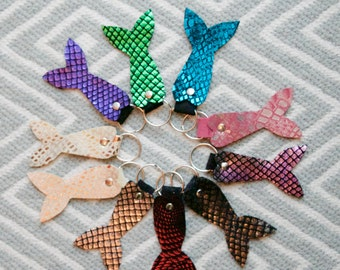 Mermaid Tail - Mer-Tail Leather Keychain
