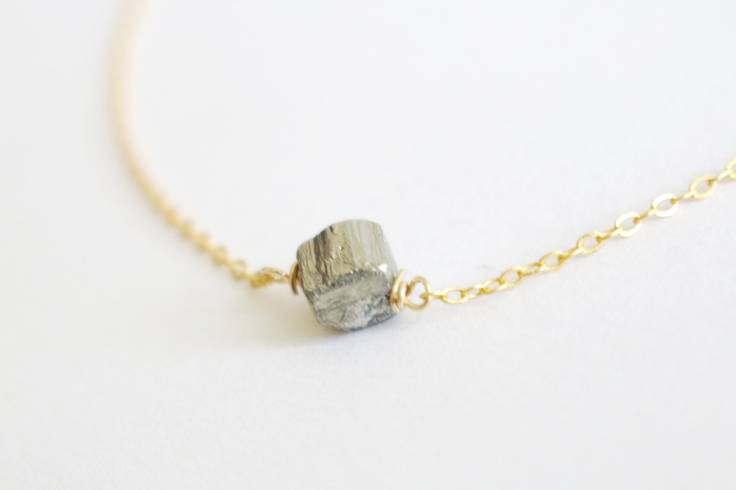 pyrite necklace pyrite jewelry necklaceraw