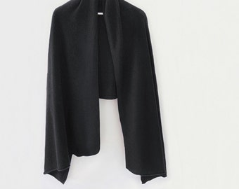 Charcoal pure cashmere long shawl / Ready to ship cashmere shawl / Pure cashmere scarf / Pure cashmere / Shawl / Scarf /Winter accessories