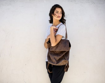 Leather Tote Bag ,Handmade Leather Bag ,Tote Bag ,Large Leather Bag,Brown Leather Bag, Francis K Bag