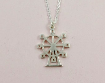 Necklace Ferris Wheel, Sterling Silver // The FUN FAIR Collection