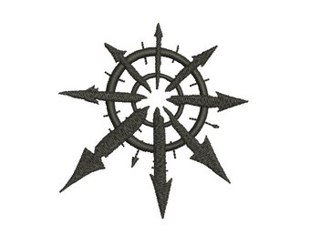 Machine Embroidery Design Instant Download - Warhammer 40K Star of Chaos