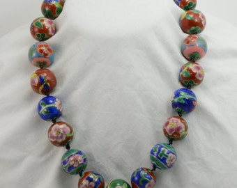 Cloisonné Beaded Necklace