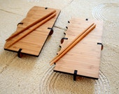 Bamboo Sushi Serving Sets, sushi board and chopsticks, wood sushi set, sushi plate, sashimi, sushi servingware, engraved sushi board