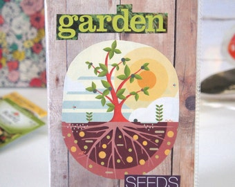 Garden Seed Keeper - RUSTIC TREE - organize, store, and protect seed packets
