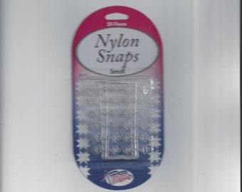 New in Package, 1/4 Inch Nylon Snaps, 24 Count, Sullivans Quilt Shop, From 2001, Quilting & Sewing Notions, Sewing Tools, Invisible Snaps