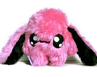 Fluse Kawaii Plush Cute Rabbit stuffed animal Pink - Black