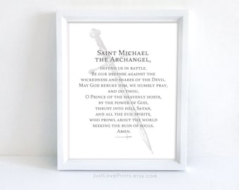 Prayer to St. Michael the Archangel | Catholic Confirmation Gift | 8x10 Catholic Print