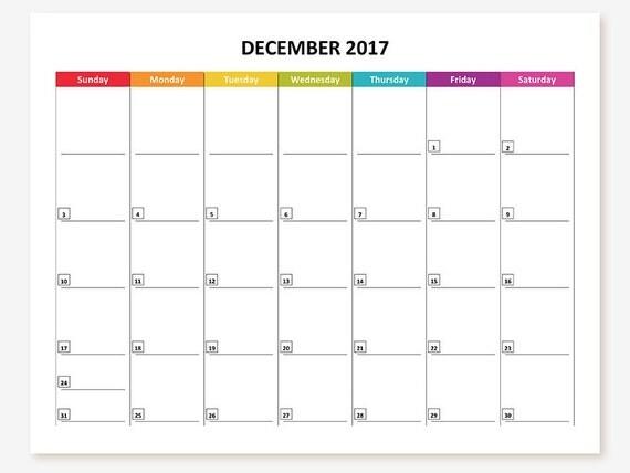 Printable 2016-17 Monthly Calendars by GraceByFaith on Etsy