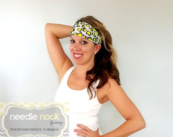 The Hearts Yoga Headband - Spandex Headband - Boho Wide Headband