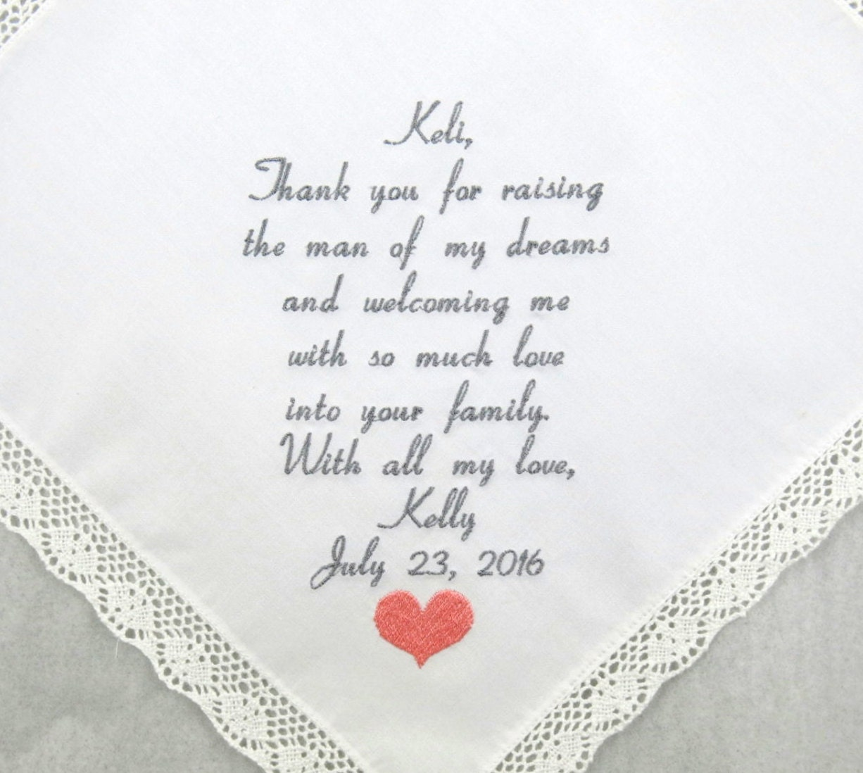 Mother of the groom gift Mother in law wedding gift Embroidered ...