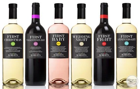 Wine Poems Wedding Milestone Wine Labels - Unique Wedding Gifts ...