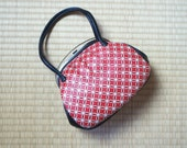 Red leather kimono bag, r...