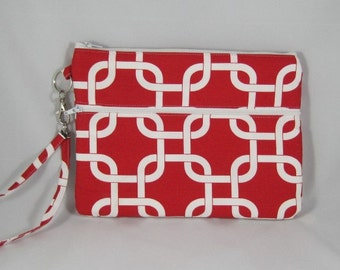 Red and white iPad mini case