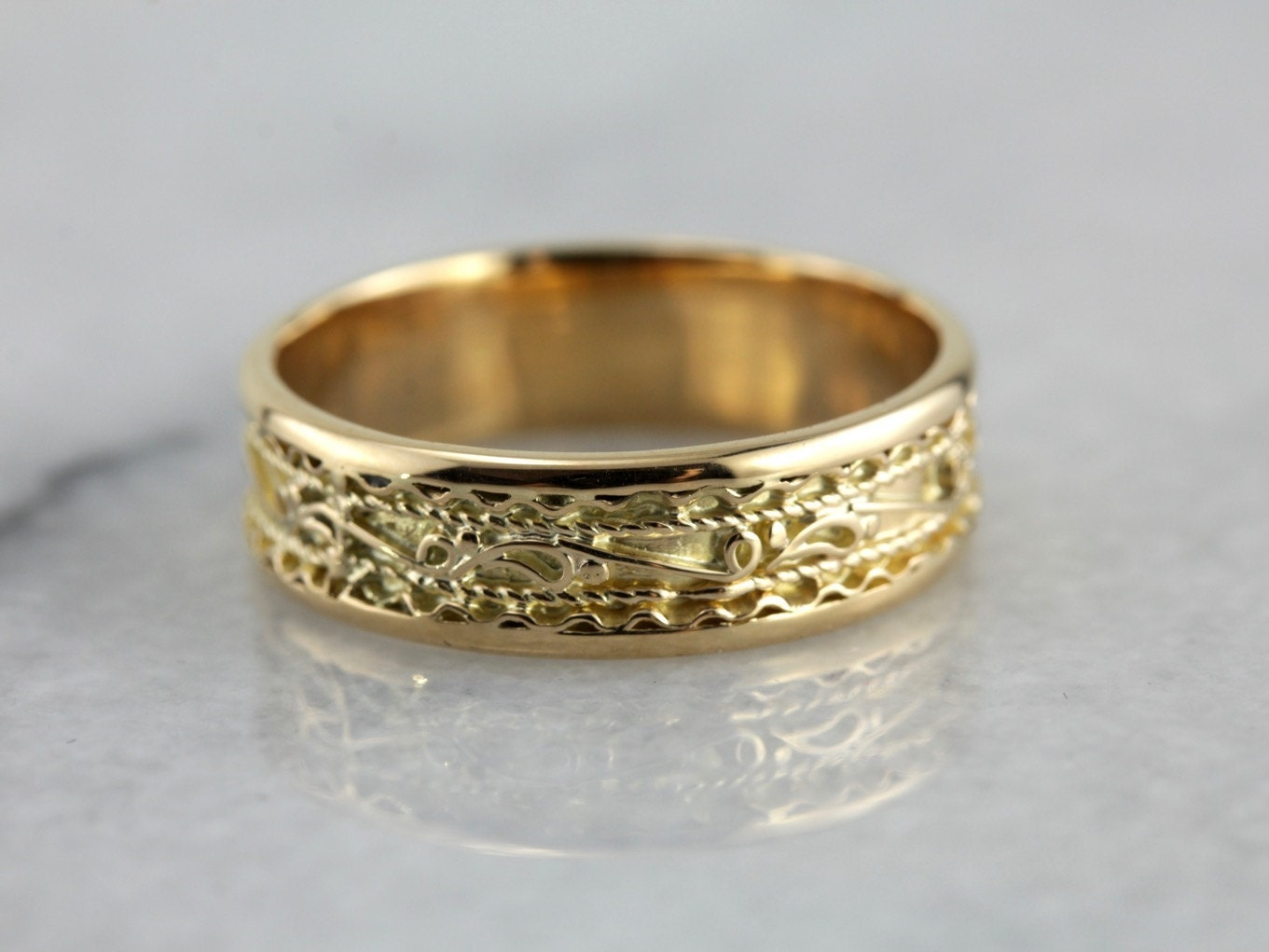 ornate yellow gold s wedding band dmya3w p