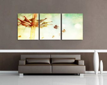 wall hangings for living room. Large Wall Decor  Canvas Art Set of 3 Nursery wall decor Etsy
