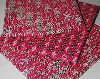 Fat quarter red Malaysian batik