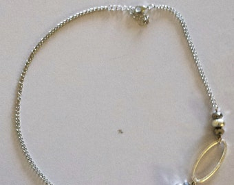 Silver link beaded Necklace