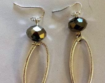 Oval Beaded Drop earrings