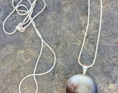 Double sided Pluto necklace, New Horizons, Space jewelry, pluto necklaces, science necklace, galaxy, planet, science necklaces, Pluto, space