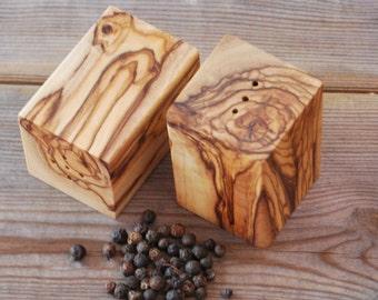 Olive Wood Salt and Pepper Set