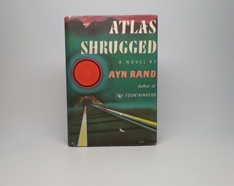 First Edition Atlas Shrugged by Ayn Rand 1957 Random House with Original Dust Jacket Hardcover Book 23P