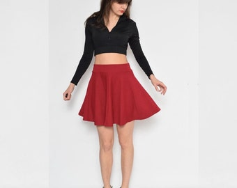 Vintage 90's  Full Circle High Waist Mini Skirt