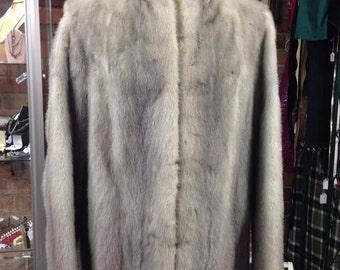 Vintage Silver Mink Coat by Saga Mink